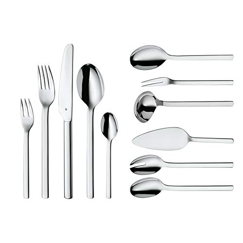 WMF Cutlery Set 66-Piece for 12 People Dune Cromargan 18/10 Stainless Steel Polished