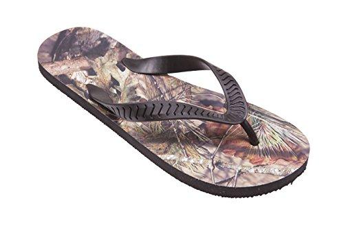 - Mossy Oak Men's Signature Flip Flops (Large (11/12), Black-BreakUpCountry)