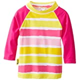 Baby Banz Baby-Girls Infant Long Sleeve UV Rash Top Sun Blossom Stripe, 6-12 Months