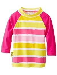 Baby Banz Baby-Girls Infant Long Sleeve UV Rash Top Sun Blossom Stripe, 6-12 Months