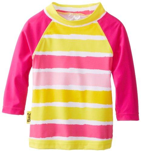 Baby Banz Baby Girls' Long Sleeve UV Rash Top Sun Blossom Stripe, Sunblossom, 3-6 Months