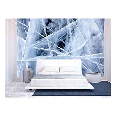 Texture of Ice of Baikal Lake in Siberia, Classic Design, Delightful Creative Design