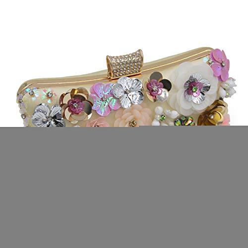 di a Europa borsette catena l Nuovo Sera Uniti Grado tallone alta fiore pacchetto Stati Borse cena aristocratica gli e borsette Womens ricamo wIfRnHq6