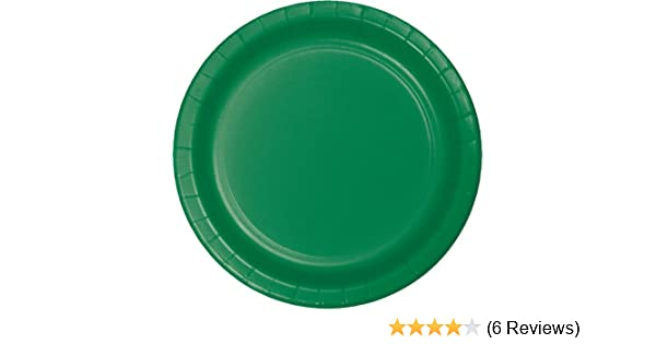 Creative Converting 79112B Touch of Color Lunch Plates Emerald Green