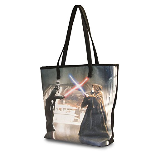 Wars Bolso motivo shopper Darth Vader Star Obi Wan con Saqz1