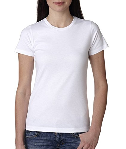 (Next Level Apparel 3900 Ladies Cotton Boyfriend T-Shirt44; White44; Large)