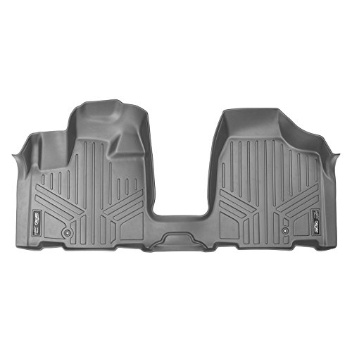 MAX LINER A2213 Gray Custom Fit Floor Mats 1st Row 1 Piece Liner Grey for 2008-2019 Dodge Grand Caravan/Chrysler Town & Country ()