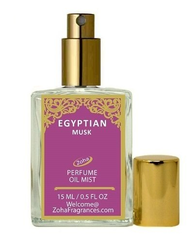Egyptian Musk Perfume Oil Mist (no Alcohol) Egyptian Oil Parfum by Zoha Fragrances, 15ml/0 .5fl Oz