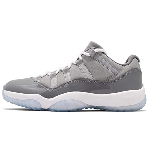 Jordan Men's Air 11 Retro Low, Medium Grey/White-Gunsmoke, 8 M US (Authentic Jordan 11 Space Jam For Sale)
