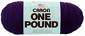 Caron One Pound Yarn, 16 Ounce, Purple, Single Ball