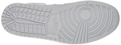 Nike Air Jordan 1 Mid, Scarpe da Basket Uomo Bianco (White/Black/White)