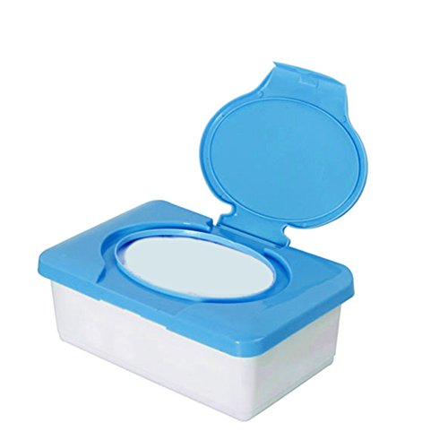 Plastic Wet Tissue Case Real Tissue Case, Zeeneek Baby Wipes Box Home Tissue Holder Accessories (blue)