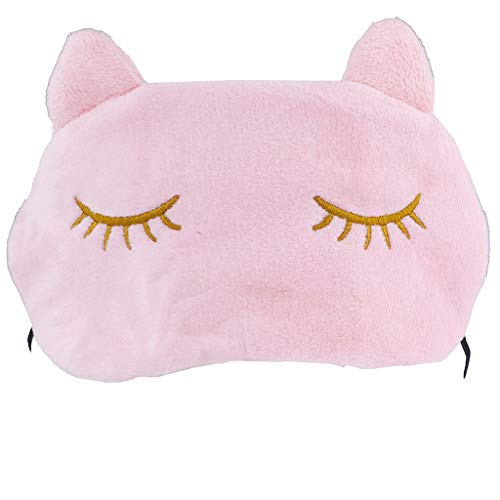Lux Accessories Cat Kitten Kitty Cat Ears Emoji Kitschy Teen Sleeping Mask]()