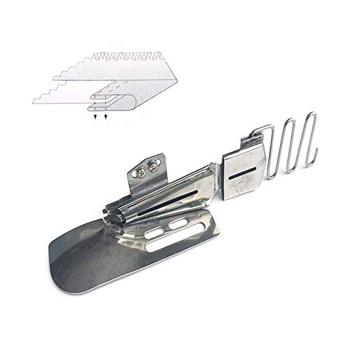 LNKA Industrial Foot LK-104 Double Fold Type B Binder Fit for 2Needle or 3 Needle Cover Stitch Sewing Machine (Tape Size:2