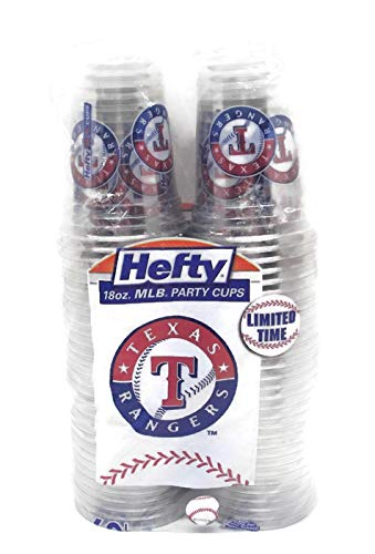 Texas Rangers Baseball Party Cups - 16 (18 oz.) Hefty -