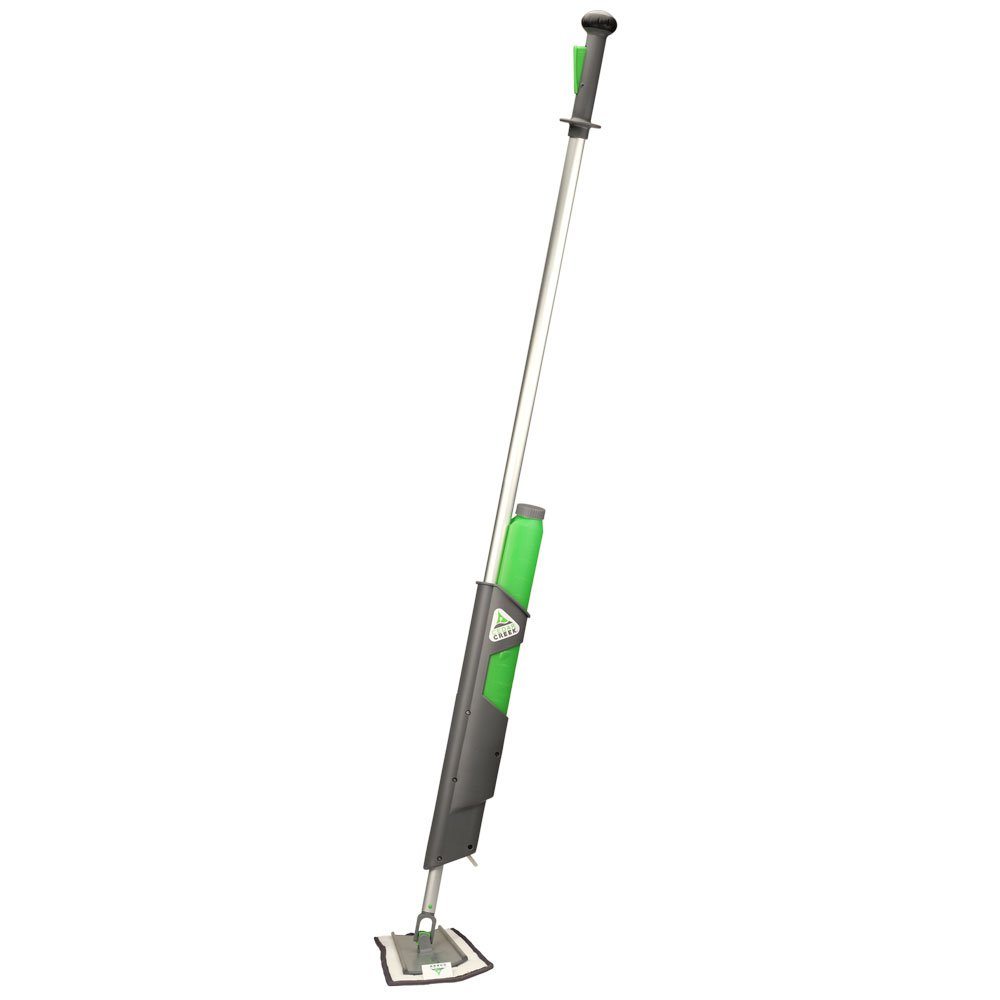 Cedar Creek Professional 18'' Bucketless Microfiber Spray Mop by Rocker Frame Glides Across Floors with Less Effort | Removable 21 oz Color Coded Easy to fill Reservoir