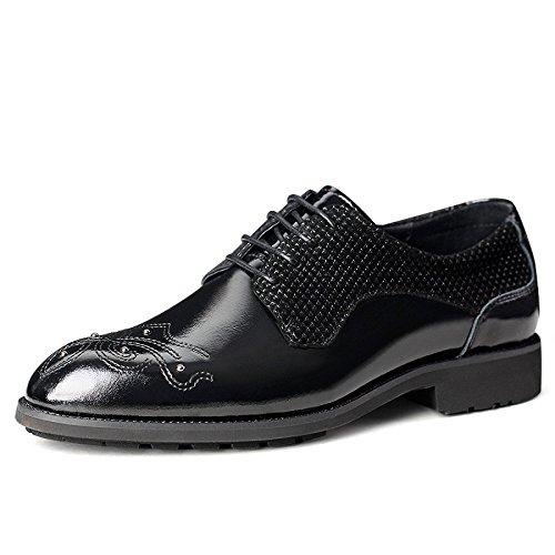 LEDLFIE Business Chaussures en Cuir Robe Chaussures pour Hommes Black iJVkvlF1