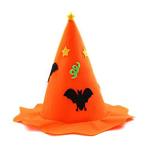 Creative Home Supplies Children Cosplay Prop Cap Pumpkin Witch Hat Halloween Hair Costume Decorations Masquerade Party Hat Deserve to Buy (Color : -