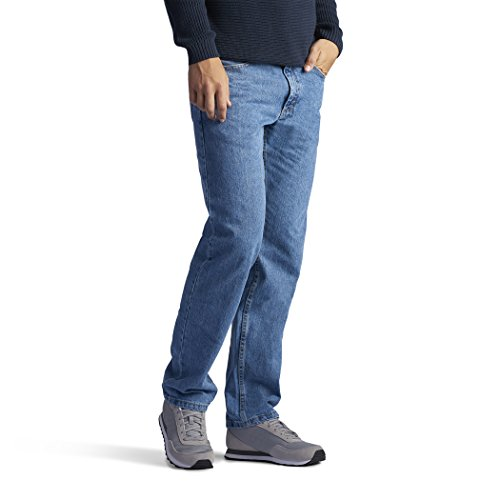 LEE Men's Regular Fit Straight Leg Jean, Vintage, 40W x -