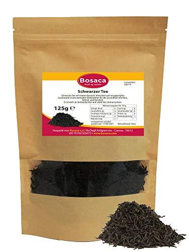 Schwarzer Tee - im Zippbeutel - 100% Natürlich | Premium Qualität - 125 g - Zufrieden oder Rückerstattung