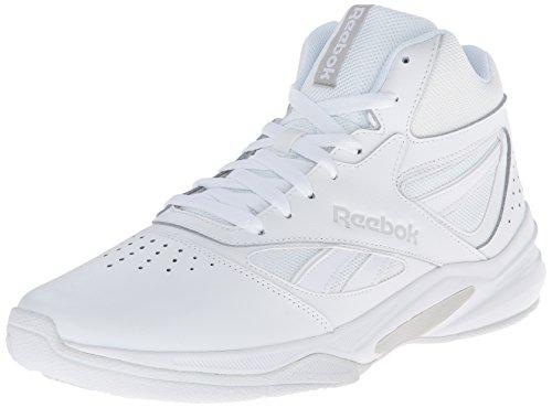 Reebok Mens Pro Patrimonio 1 Scarpa Da Basket Bianco / Acciaio