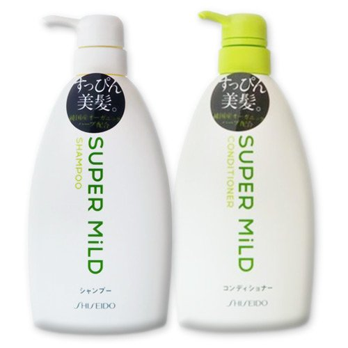 Shiseido Super Mild Hair Care Set: Shampoo & Conditioner - 2 x 600ml Pump Bottles