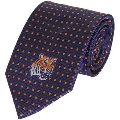 Vesi Lsu Tigers Dot Pattern Silk Necktie