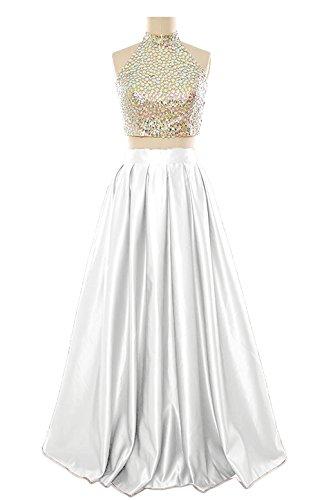 M Maniche Donna White Bridal Vestito Senza BxqwfBr