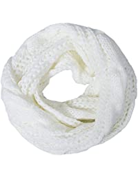 Womens Winter Warm Ribbed Thick Knit Infinity Scarf Circle Loop Cowl Scarf