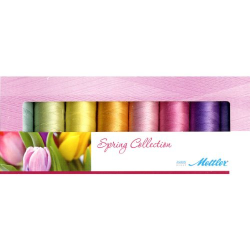 - Mettler Thread Silk Finish 100% Mercerized Cotton Sewing Set; 8 Spools Spring Colors SF8Spring