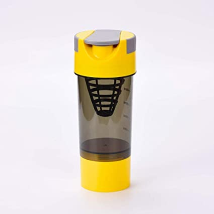 QSs-Ⓡ Fitness Shaker Botella de batido de proteína de suero ...
