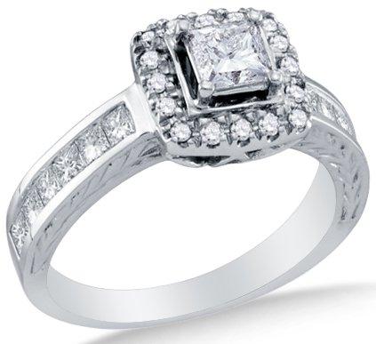 0.39 Ct Princess Diamond - 1