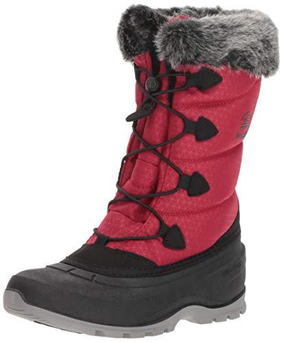 Kamik Waterproof Snow Boots - Kamik Women's MOMENTUM2 Snow Boot, red, 6 Medium US