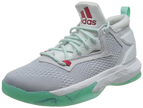 Adidas D Lillard 2 Pk Herre Basketball Trænere Sneakers Turkis-hvid-grå 1wH62Ef29q
