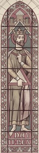 David Stained Glass Print (King David 13th C Stained Glass Poster Print (24 x 36))