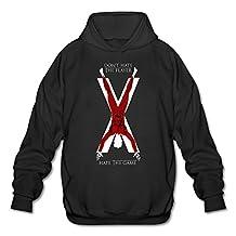 SHMUY House Bolton Game Of Thrones Men's Cotton Hooded Sweatshirt Black