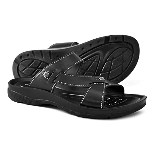 AEROTHOTIC Original Orthotic Comfort Slip On Sandals and Flip Flops with Arch Support for Comfortable Walk (US Women 11, Thistle Black) by AEROTHOTIC (Image #8)