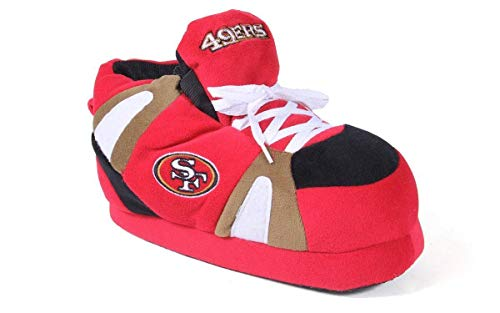 SFR01-1 San Francisco 49ers - Small - Happy Feet & Comfy Feet NFL Slippers