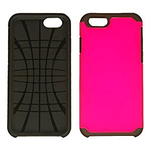 CellTx Hybrid 2 in 1 Case For Apple (iPhone 6) Double Layer Cover (Pearl Hot Pink) AT&T, T-Mobile, Sprint, Verizon, Boost Mobile, U.S Cellular, Cricket by mcsharks