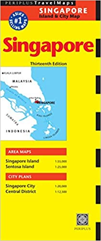 Singapore Travel Map Thirteenth Edition Periplus Travel Maps ...