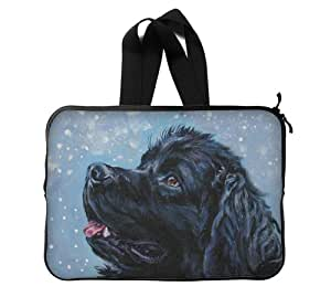 """Dog Painting Custom Bag Waterproof Laptop Sleeve Bag advanced design suitable for all computers 13"""" Computer Case Art Painting Twin Sides"""