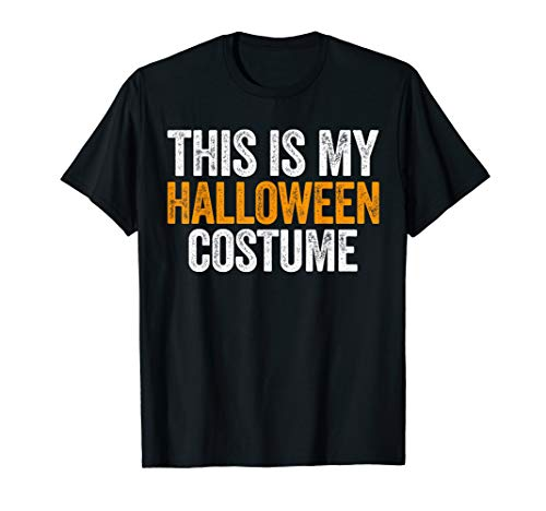 Vintage This Is My Halloween Costume Apparel, Funny Retro T-Shirt