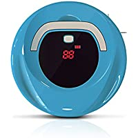 EVERTOP Robot Sweeper, Smart Home or Office Floor Cleaner for Pet Hair, Dirt, Daily Dust Removal, Blue