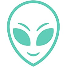 Alien Face Outline Area 51 Big Eyed Extraterrestrial - Vinyl Decal for Outdoor Use on Cars, ATV, Boats, Windows and More - Mint 5 inch