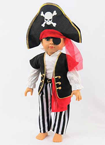 Custom Girl Halloween Costumes (Eye Patch Pirate Halloween Costume| Fits 18