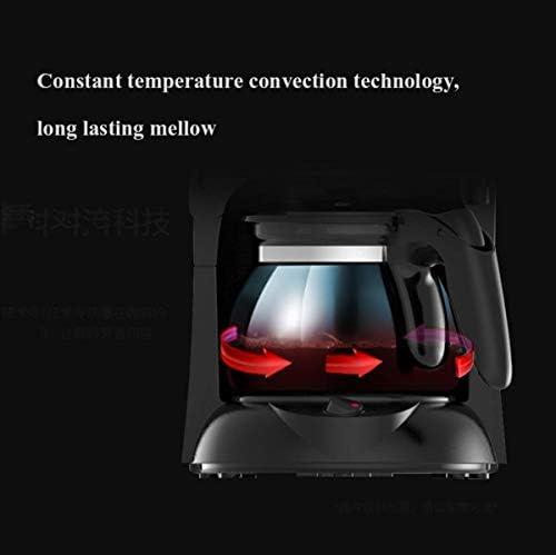 Machine à café filtre, avec Moulin à café anti-goutte Conception filtre amovible for garder au chaud 0.65L 4 tasses cafetière 600W KNDTA