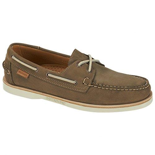 Taupe Nubuck Footwear - Sebago Men's Crest Docksides Dark Taupe Nubuck Boat Shoe 9.5 M