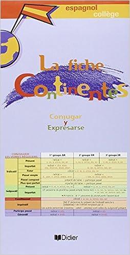 Livre gratuits en ligne Continentes collège  (fiche grammaire) epub pdf
