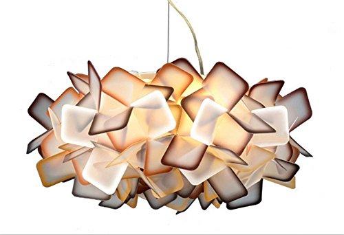 DGS Nordic Simple Creative Personality Chandelier Flower Ceiling Lamp Study Room Living Room Bedroom Tender Petal Lamp, 3