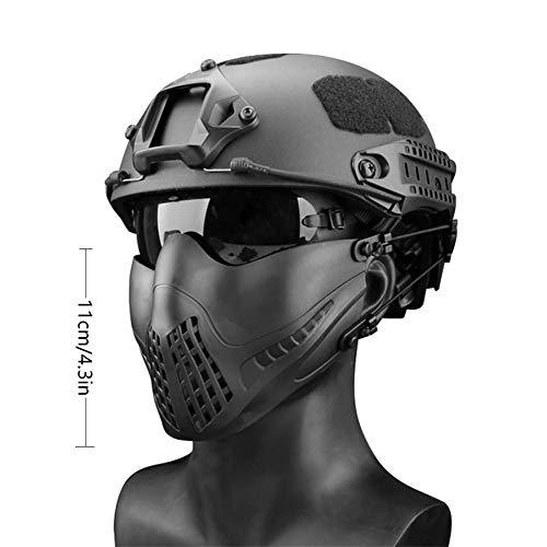 332PageAnn Masque Tactique extérieur Système de Bandeau à Deux Modes, Masque de Protection Tactique Visage Inférieure… 2